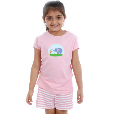 Pink Half sleeve Girls Pyjama - Ellie
